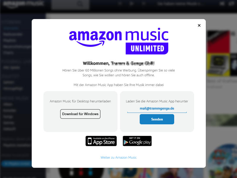 Amazon Music Unlimited Download App