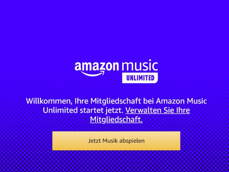 Amazon Music Unlimited Mitgliedschaft starten