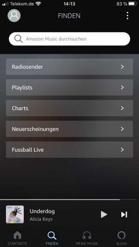 Amazon Music Unlimited App Finden