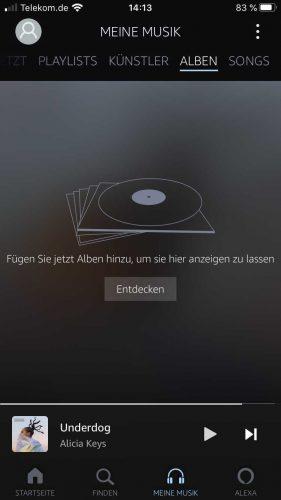 Amazon Music Unlimited App Meine Musik